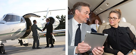 charter flight with private jet